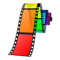 Vector illustration of colorful film